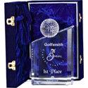 Allstar Awards Logo Optic Crystal Peak Award - Small