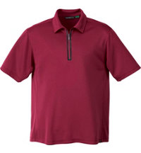 Men's Logo ECO Polyester/Bamboo Zipped Polo