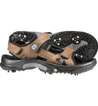 Men's Closeout GreenJoys Golf Sandals -  Brown (FJ# 45493)