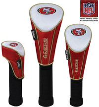 NFL Set of Three Nylon Headcovers- Driver, Fairway, Utility