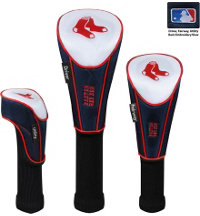 MLB Set of Three Nylon Headcovers - Driver, Fairway, Utility