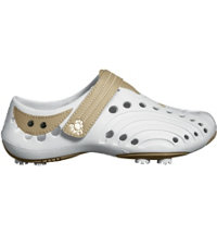Women's Golf Spirit New Colors Golf Shoes (White/Tan)