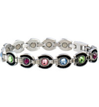 Lady Gem Multicolor Horseshoe Magnetic Bracelet