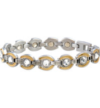 Lady Gem Gold Horseshoe Magnetic Bracelet
