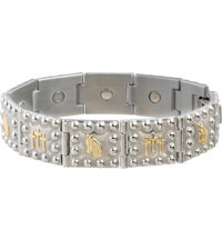 Horse Head Crosses Duet Magnetic Bracelet