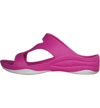 Premium Women's Z Sandal with Rubber Sole Casual Shoes - Hot Pink/White