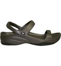 Premium Women's 3 Strap Sandal Casual Shoes (Dark Brown/Black)