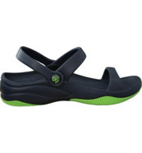Premium Women's 3 Strap Sandal Casual Sandals (Navy/Lime Green)