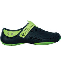 Premium Boy's Spirit Casual Shoes (Navy/Lime Green)