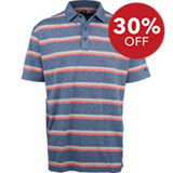 Men's B&T Heather Printed Stripe Short Sleeve Polo