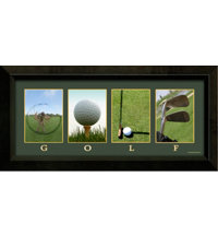 Framed Art - Mini Golf Letters, Color Canvas Print (9.5