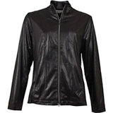 Women's Distressed Faux Leather Jacket