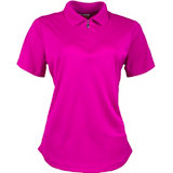 Women's Rib Collar Yoke Details Short Sleeve Polo