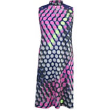 Women's Circle Print Sleeveless Dress