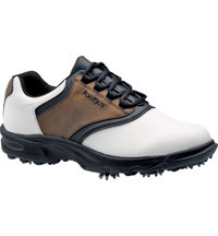 Men's Closeout GreenJoys Golf Shoes - White/Brown/Black (FJ# 45516)