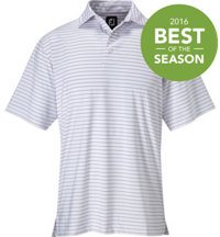 Men's ProDry Performance Lisle Pencil Stripe Polo with Self Collar