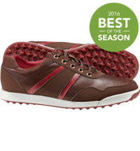 Men's Closeout Contour Casuals Series Spikeless Golf Shoes - Brown/Crimson