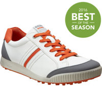 Men's Golf Street Spikeless Golf Shoes - White/Titanium/Orange