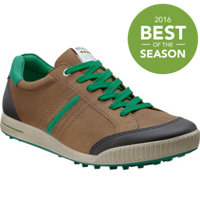 Men's Golf Street Spikeless Golf Shoes - Birch/Black/Green