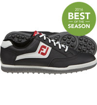 Men's Closeout GreenJoys Casual Golf Shoes - Black/Grey/Red (FJ#45317)