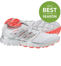 Women's Climacool II Spikeless Golf Shoes - White/Silver Met/Flash Red