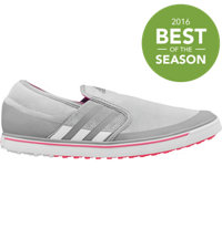 Women's adicross SL Spikeless Golf Shoes - Clear Onix/Running White/Flash Red