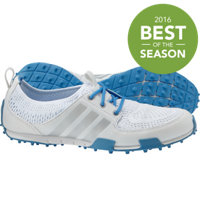 Women's Ballerina II Spikeless Golf Shoes - Running White/Silver Met/Chambray