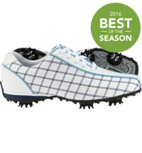 Women's Closeout LoPro Collection Golf Shoes - White/Navy/Light Blue (FJ 97214)