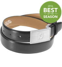 Men's Leather Plaque Belt