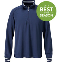 Men's Half-Zip Fleece Backed Pique Pullover