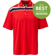 Men's Stretch Lisle Chest Stripe Short Sleeve Polo