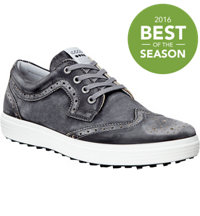 Men's Casual Hybrid Wingtip Golf Shoes - Black