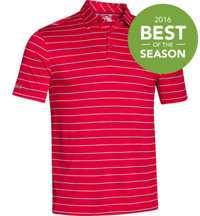 Men's coldblack Par Stripe Short Sleeve Polo