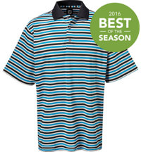 Men's Pique Multi Stripe Short Sleeve Polo