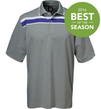 Men's ProDry Lisle Stripe Short Sleeve Polo