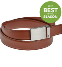Men's Vader Belt - Steel on Saddle Brown