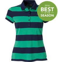 Women's Precision Stripe Pique Short Sleeve Polo