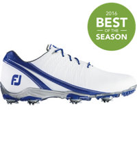 Men's D.N.A Spiked Golf Shoes - White/Blue (FJ# 53384)