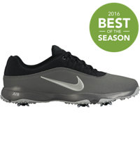 Men's Air Rival 4 Spiked Golf Shoes- Black/Metallic Silver/Dark Gray/Wolf Gray