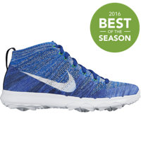 Men's Flyknit Chukka Spikeless Golf Shoes - RCR Blue/White/University Blue