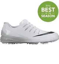 Men's Lunar Control IV Spiked Golf Shoes - White/Black/Wolf Grey