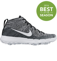 Women's Flyknit Chukka Spikeless Golf Shoes - Black/White
