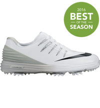 Women's Lunar Control 4 Spiked Golf Shoes - White/Black/Wolf Grey