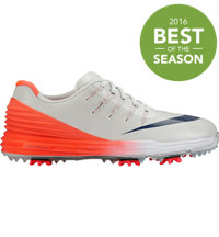Women's Lunar Control 4 Spiked Golf Shoes - Pure Platinum/Midnight Navy/Bright Crimson