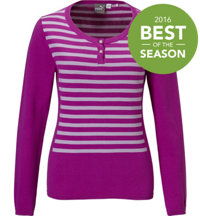 Women's Striped Scoopneck Sweater