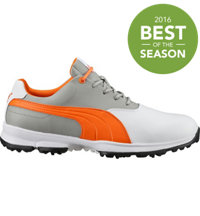 Men's Golf Ace Spiked Golf Shoes - White/Vibrant Orange