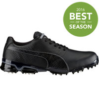 Men's Puma Titantour Ignite Spiked Golf Shoes - Black/Steel Gray
