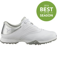 Women's Blaze Spiked Golf Shoes - White/Puma Silver
