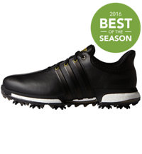 Men's Tour360 Boost Spiked Golf Shoes - Core Black/Gold Metallic