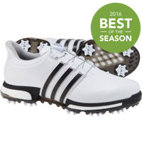Men's Tour360 BOA Boost Spiked Golf Shoes - Ftwr White/ Core Black/ Dark Silver Metallic